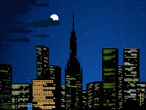 City lights, vector Stock Image