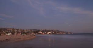 City lights view Laguna Beach at night Stock Images