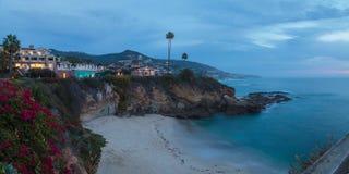 City lights view Laguna Beach at night Royalty Free Stock Photography