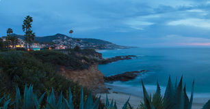 City lights view Laguna Beach at night Royalty Free Stock Images