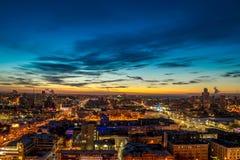 City Lights of Yeakaterinburg. Fantastic scenery of Yekaterinburg Stock Image