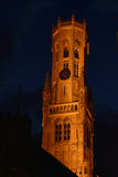 City ligths in bruge Royalty Free Stock Image