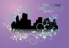 City on  lilac  background Royalty Free Stock Photos