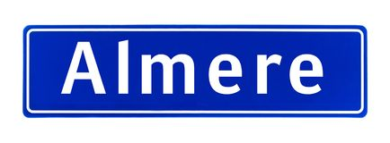 City limit sign of Almere, The Netherlands Stock Image