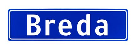 City limit sign of Breda, The Netherlands Stock Photography