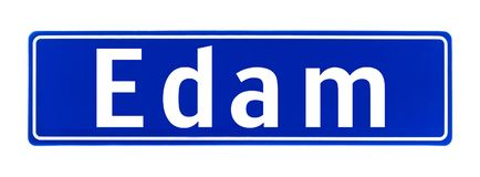 City limit sign of Edam, The Netherlands Stock Images