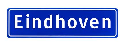 City limit sign of Eindhoven, The Netherlands Stock Photography