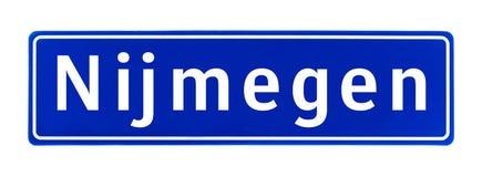 City limit sign of Nijmegen, The Netherlands Stock Photo