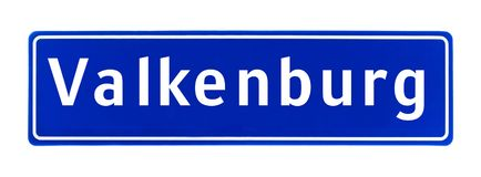 City limit sign of Valkenburg, The Netherlands Royalty Free Stock Photos