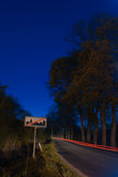 city limits night sign Στοκ φωτογραφία με δικαίωμα ελεύθερης χρήσης