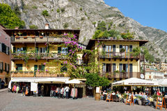 City of Limone along with Garda Lake,Italy Royalty Free Stock Photography