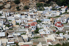 City of Lindos, Greece Stock Image