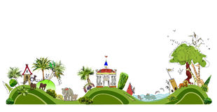 City line collection Zoo illustration Stock Photos