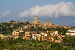 City Line of San Gimignano-San Gimignano, Italy Stock Images