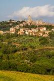 City Line of San Gimignano-San Gimignano, Italy Stock Image