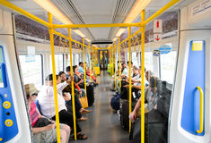 City Line Train interior Stock Photos