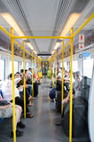 City Line Train interior Royalty Free Stock Photo