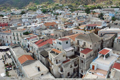 The city of Lipari Aeolian Island, Italy Stock Photography