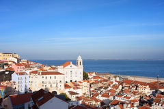 City of Lisbon from Above in Portugal Royalty Free Stock Photos