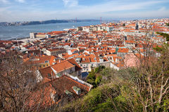 City of Lisbon from Above Stock Photo