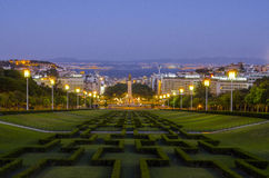 City of Lisbon at dusk Royalty Free Stock Images