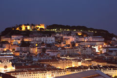 City of Lisbon at dusk, Portugal Stock Photos