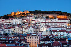 City of Lisbon at Dusk in Portugal Royalty Free Stock Images