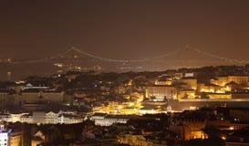 City of Lisbon at night Royalty Free Stock Photo