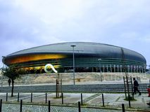 Stadium at Oriente. City of Lisbon in Portugal Stock Photography