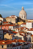 City of Lisbon in Portugal at Sunset Stock Image
