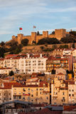 City of Lisbon at Sunset in Portugal Royalty Free Stock Photo
