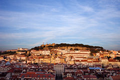 City of Lisbon at Sunset in Portugal Royalty Free Stock Photography