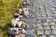City little  cobbles  on the street road Stock Photography