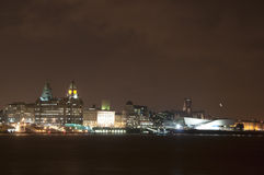 City of Liverpool, England - Liver Building, Museum of Liverpool Royalty Free Stock Images