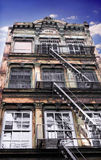 City Living. New York City historic townhouse apartment buildings Stock Image