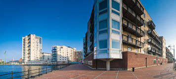 City living, Cardiff. Contemporary housing development along the popular Cardiff Bay in Wales Stock Photo