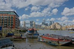 City living, London skyline from Butlers Wharf