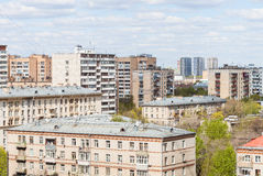City living quarter in sunny day Stock Image