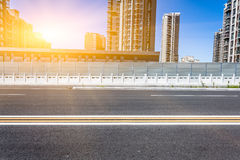 City location and road Royalty Free Stock Images