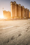 City location and road Royalty Free Stock Photos