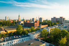 City of Lodz, Poland. Late evening panorama of city of Lodz, Poland, Europe Stock Photos