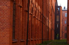 City of Lodz, renovated factory. Stock Images