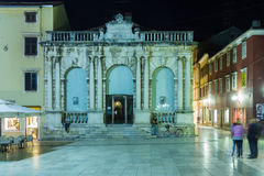 City Loggia at night. Zadar. Croatia. Stock Images