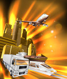 City Logistics Delivery Graphic Royalty Free Stock Photo