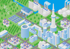 City and Logistics illustration Royalty Free Stock Photography