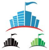 City Logo. A city building hi rise logo icon set isolated on a white background Stock Photos