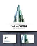 City. logo, icon, emblem, template, business card Royalty Free Stock Images