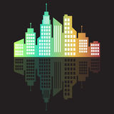 City logo, vector building web icon Stock Photo