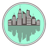 City logo, vector building web icon Royalty Free Stock Photo