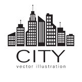 City logo, vector building web icon Stock Photography
